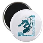 Eat Sleep Snowboard Magnet