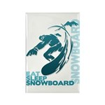 Eat Sleep Snowboard Rectangle Magnet