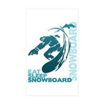 Eat Sleep Snowboard Rectangle Sticker 10 pk)