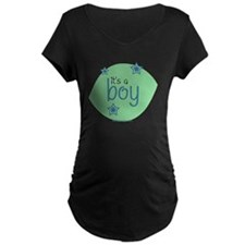 it's a boy dark materni-tee shirt