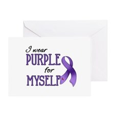 Wear Purple - Myself Greeting Card