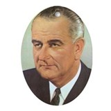 Lyndon Johnson Christmas Ornament
