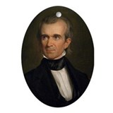 James K. Polk Christmas Ornament