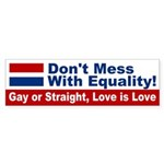 Equality: Love is Love Bumper Sticker
