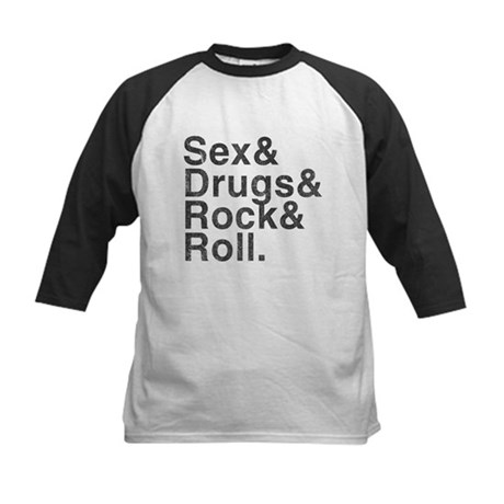 Sex, Drugs, Rock & Roll Kids Baseball Jersey