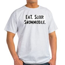 Eat, Sleep, Snowmobile Ash Grey T-Shirt