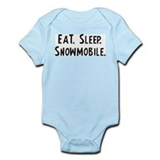 Eat, Sleep, Snowmobile Infant Creeper