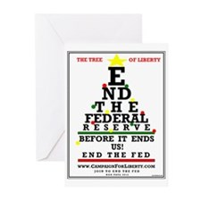 END THE FED CHRISTMAS Cards (Pk of 20)