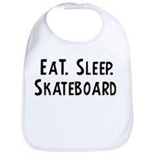 Eat, Sleep, Skateboard Bib