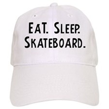 Eat, Sleep, Skateboard Baseball Cap