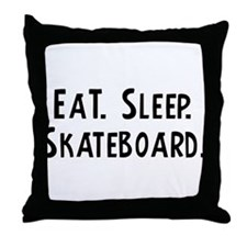 Eat, Sleep, Skateboard Throw Pillow