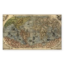 1565 World Map Rectangle Decal