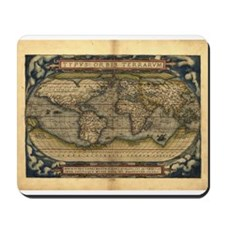 1570 World Map Mousepad