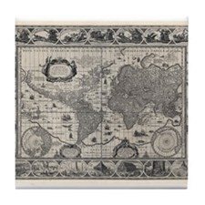 1606 World Map Tile Coaster