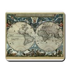 1664 World Map Mousepad