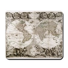 1708 World Map Mousepad