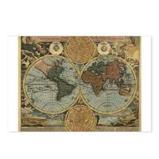 1716 World Map Postcards (Package of 8)