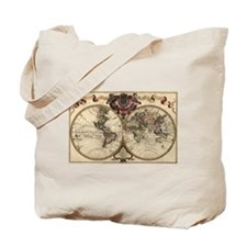 1720 World Map Tote Bag