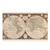 1799 World Map Postcards (Package of 8)