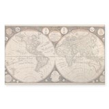 1799 World Map Rectangle Decal