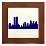 Skyline New York Framed Tile