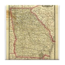 1883 Georgia Map Tile Coaster