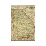 1883 Georgia Map Rectangle Magnet