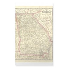 1883 Georgia Map Rectangle Decal