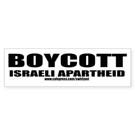 Boycott Apartheid Bumper Sticker
