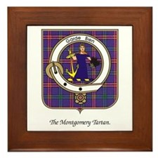 Montgomery Clan and Tartan Framed Tile
