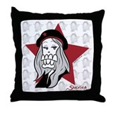 Skeletica Fashionista Throw Pillow