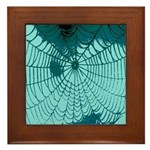 Spider Webs Framed Tile
