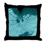Spider Webs Throw Pillow