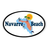 Navarre Beach FL Oval Decal