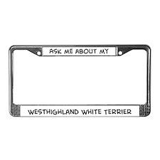 Westhighland White Terrier  License Plate Frame