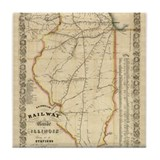 1855 Illinois Tile Coaster