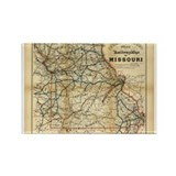 1888 Missouri Rectangle Magnet