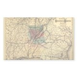 1872 Savannah & Memphis RR Rectangle Decal