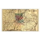 1872 Savannah &amp; Memphis RR Rectangle Decal