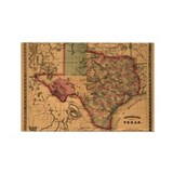 1866 Texas Rectangle Magnet