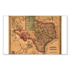 1866 Texas Rectangle Decal