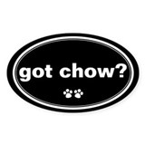 Got Chow? Oval Decal