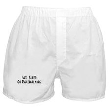 Eat, Sleep, Go Racewalking Boxer Shorts