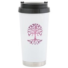 Distressed Tree V Ceramic Travel Mug