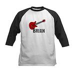 Guitar - Brian Kids Baseball Jersey