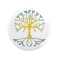 "Distressed Tree VII 3.5"" Button"