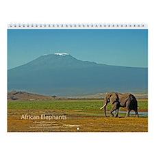 African Elephants Wall Calendar