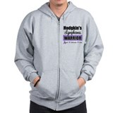 Hodgkin's Lymphoma Warrior Zip Hoody