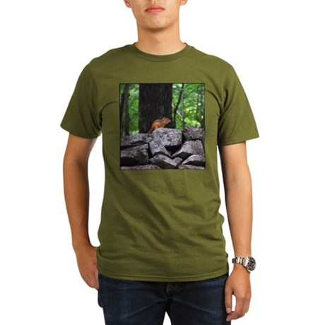 Cute Chipmunk Organic Men's T-Shirt (dark)