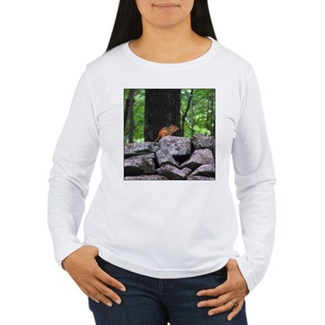 Cute Chipmunk Women's Long Sleeve T-Shirt